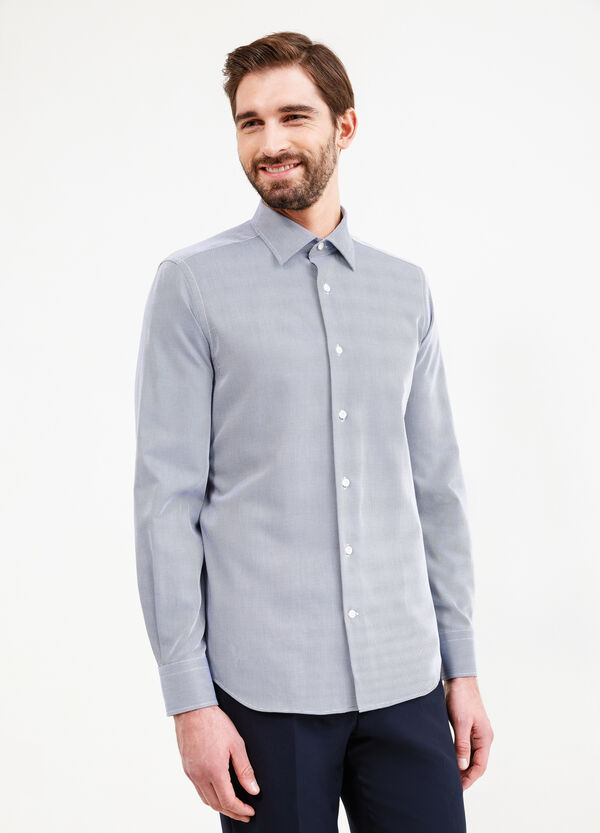 Slim-fit formal micro-striped shirt | OVS