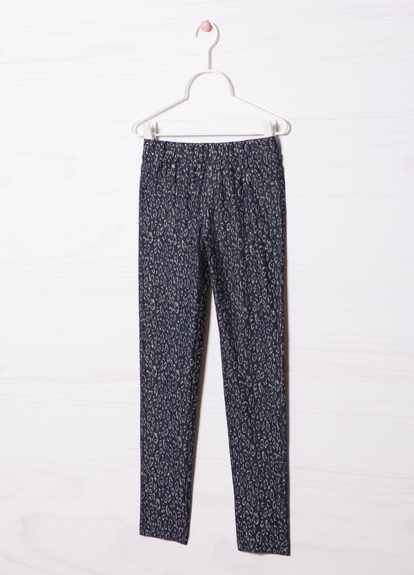 Patterned stretch jeggings | OVS