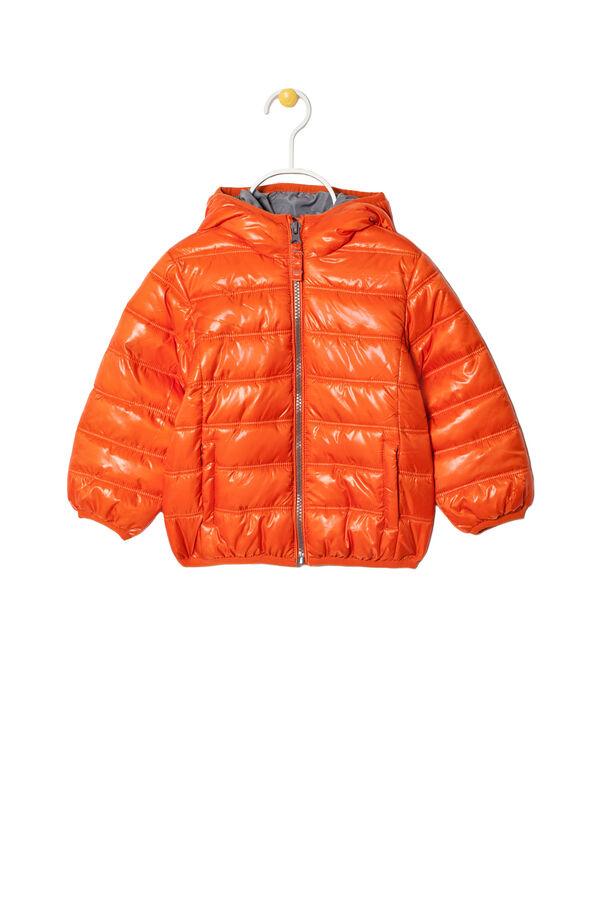 Plain down jacket with hood | OVS