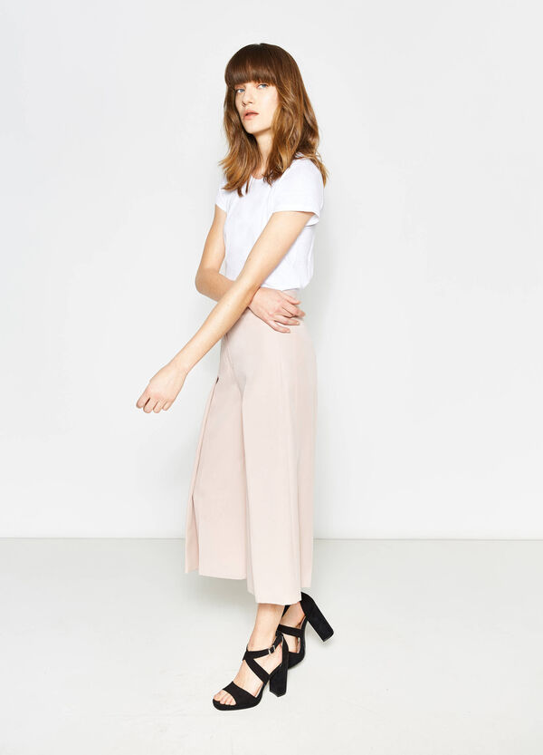 Gaucho trousers with high waist band | OVS