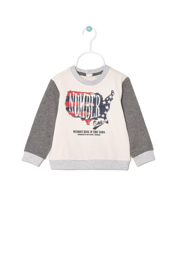 Printed sweatshirt in 100% cotton | OVS