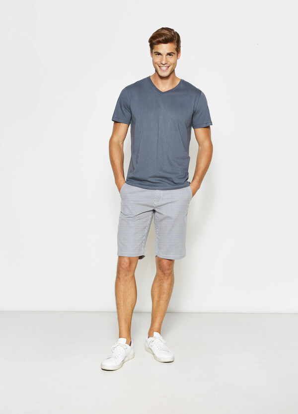 Striped Bermuda shorts in cotton | OVS
