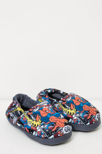 Spiderman pattern slippers, Blue, hi-res