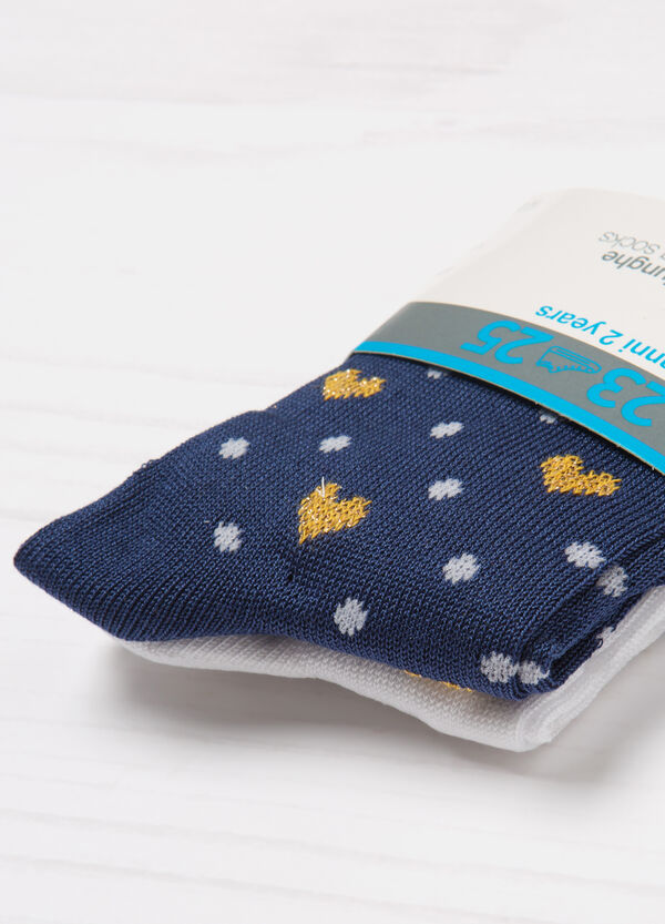 Two-pack long patterned socks   OVS