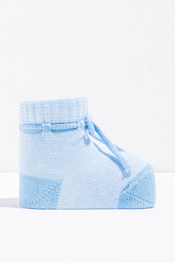 Cotton baby shoes with drawstring
