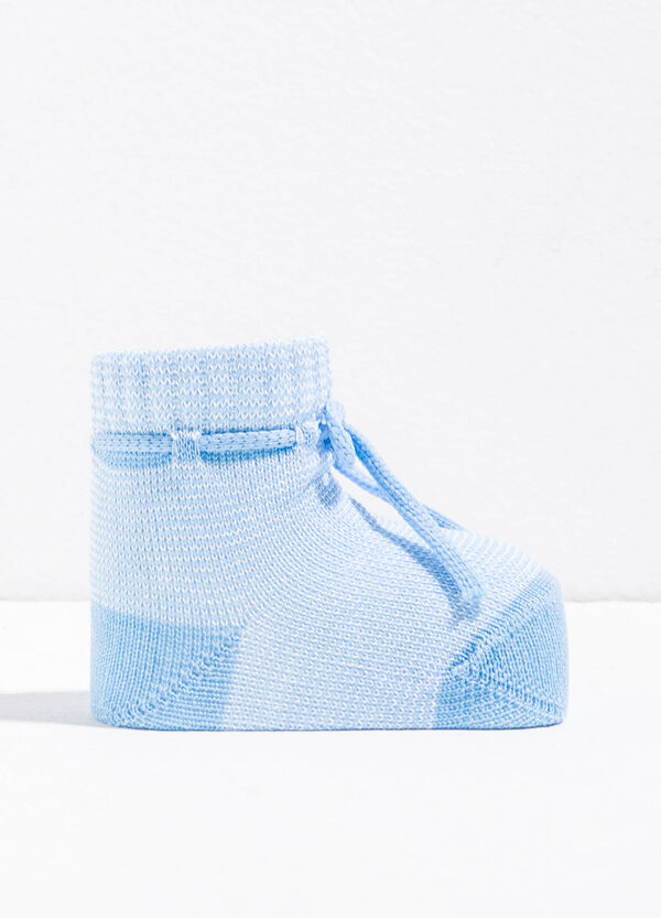 Cotton baby shoes with drawstring | OVS