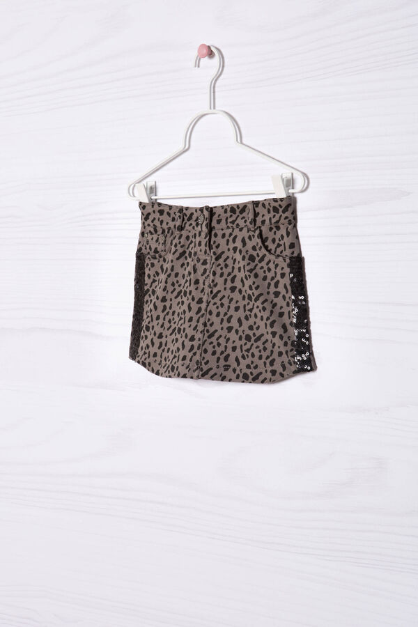 Gonna cotone stretch animalier | OVS