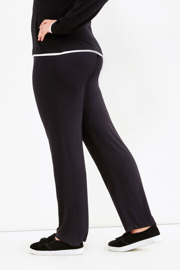 Pantaloni con coulisse Curvy, Nero, hi-res