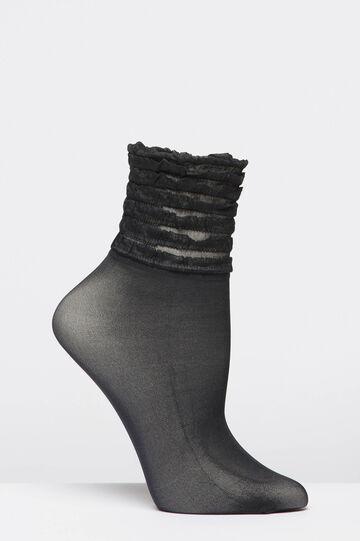 Short stretch socks, Black, hi-res