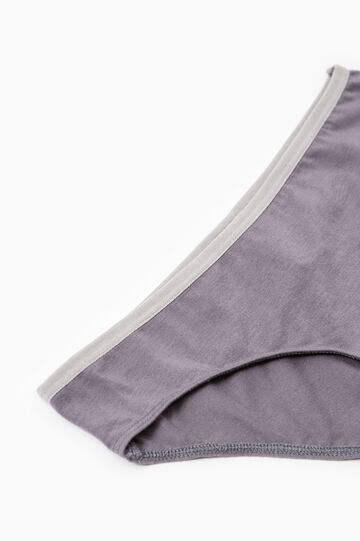 Two-pack stretch briefs with elastic waist band, Grey, hi-res