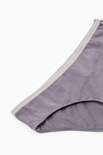 Set due slip stretch vita elasticata, Grigio, hi-res