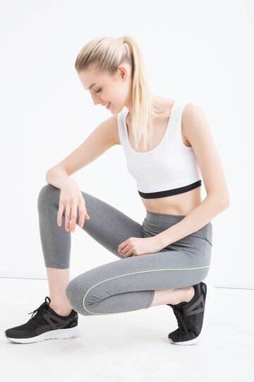 Stretch gym leggings, Grey Marl, hi-res