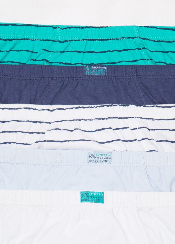 Set cinque slip puro cotone stampati | OVS