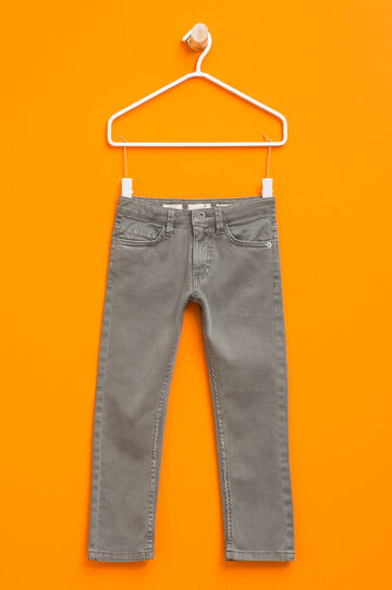 Slim fit, stretch chino trousers, Taupe Grey, hi-res