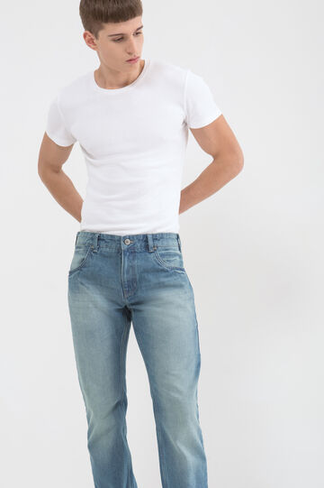 Regular fit jeans with faded effect