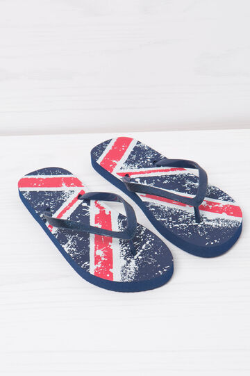 Thong sandals with pattern and glitter