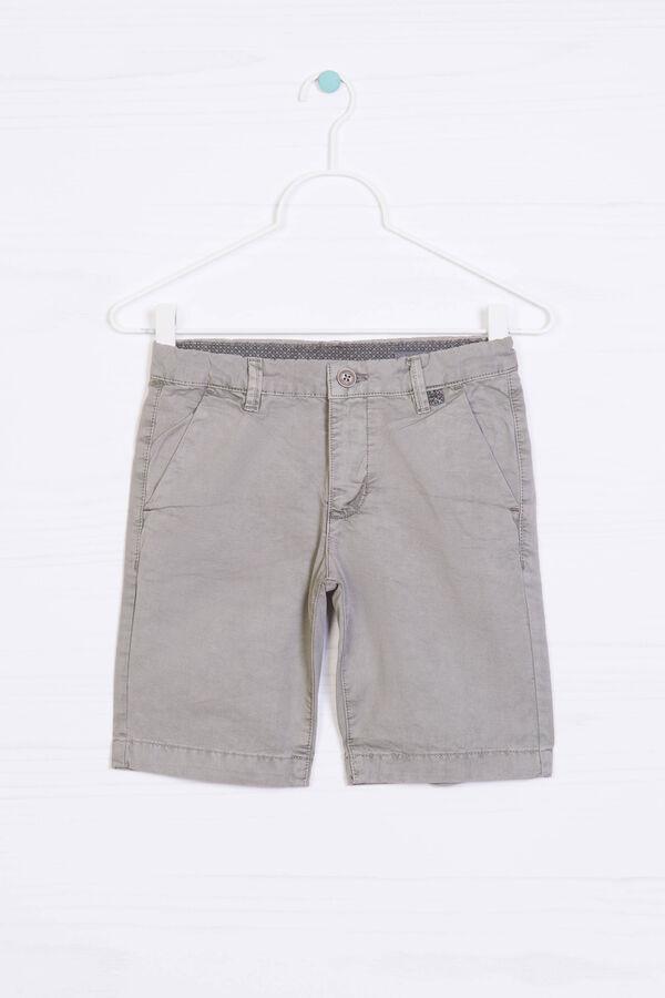 Solid colour 100% cotton Bermuda shorts | OVS