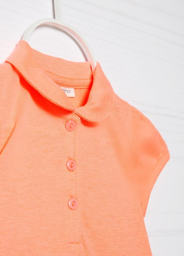 Polo cotone stretch con strass | OVS