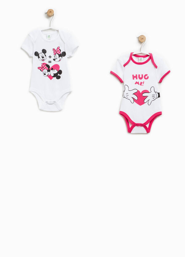 Set due body in cotone motivo Minnie | OVS