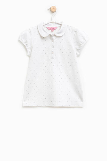 Polo shirt with glitter pattern