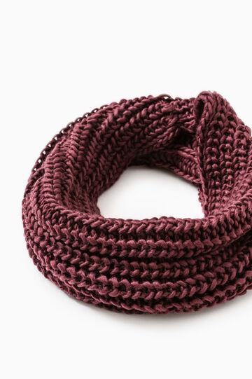 Wide knit neck warmer, Claret Red, hi-res