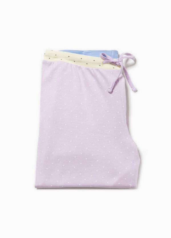 Pantalón de pijama de lunares en tejido de algodón | OVS