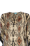 Patterned beach cover-up in 100% cotton, Multicolour, hi-res