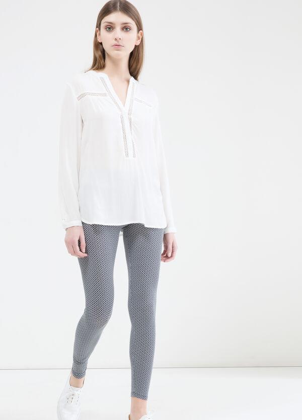 Stretch leggings with elastic waist band. | OVS
