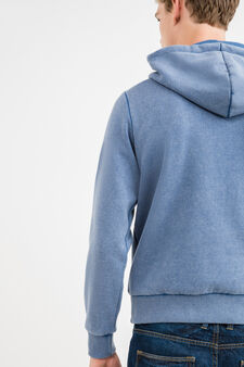 Cotton sweatshirt with G&H lettering embroidery, Soft Blue, hi-res