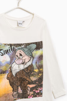 Seven Dwarves T-shirt with sequins, Milky White, hi-res
