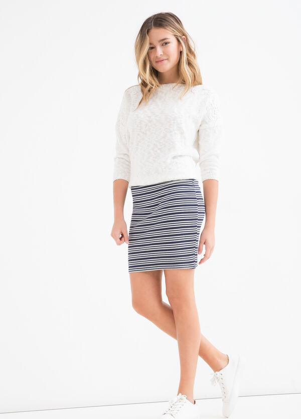 Teen striped patterned stretch skirt | OVS