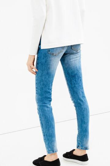 Jeans skinny fit stretch con strappi, Lavaggio medio, hi-res