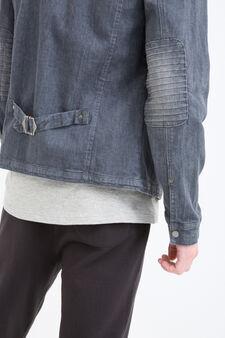 Worn-effect denim jacket, Denim, hi-res