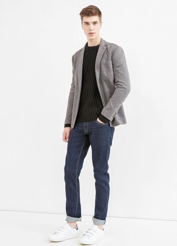 Elegant, two-button blazer in cotton | OVS