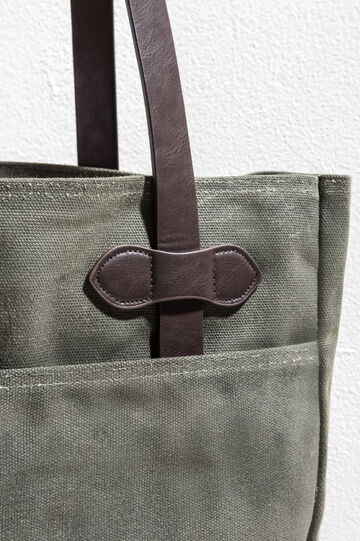 Cotton shoulder bag, Dark Green, hi-res