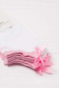Set due paia di calze corte stretch, Rosa, hi-res