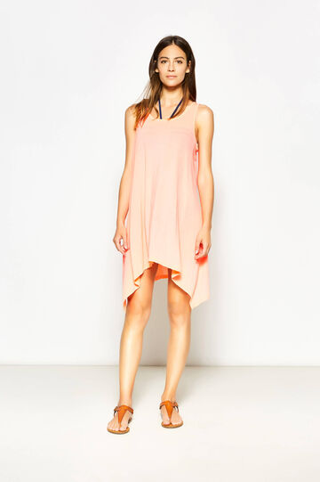 Sleeveless asymmetric kaftan