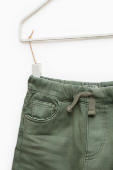 Stretch joggers with drawstring, Moss Green, hi-res