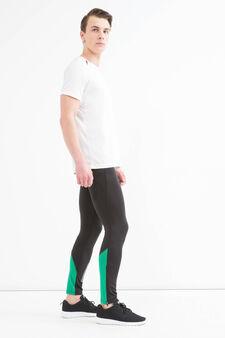 Pantaloni sportivi stretch, Nero, hi-res