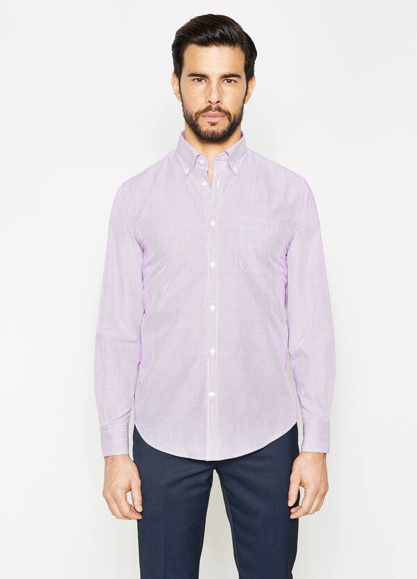 Regular-fit formal micro-striped shirt | OVS