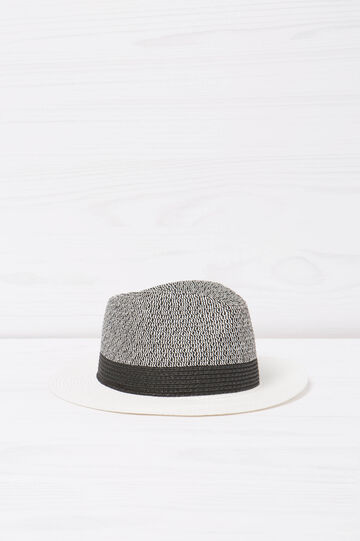 Hat with contrasting colour brim, White/Grey, hi-res
