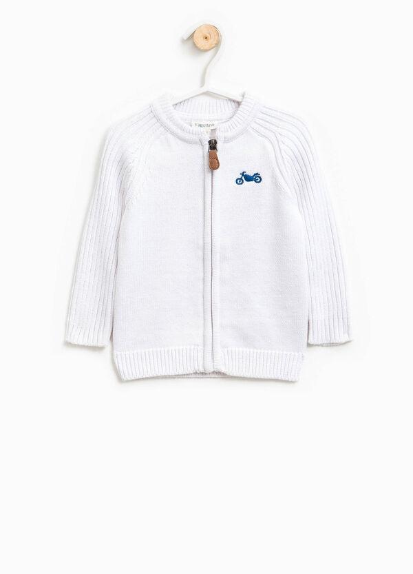 Cardigan in misto cotone tricot ricamato | OVS