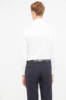 Camicia formale slim fit collo classico, Bianco, hi-res