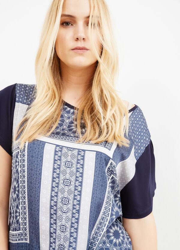T-shirt cotone maxi stampa Curvy | OVS
