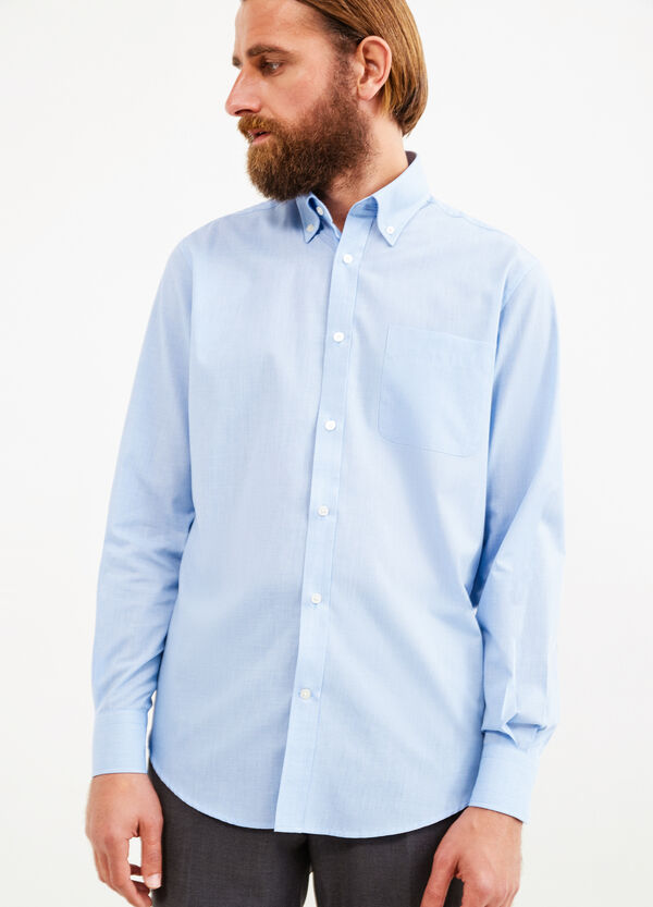 Formal shirt with micro-check pattern | OVS