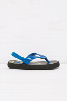 Thong sandals with Minions print, Black, hi-res
