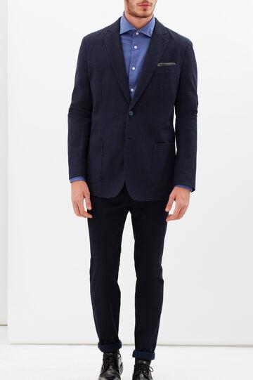Rumford stretch check jacket, Blue, hi-res