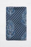 Printed scarf, Navy Blue, hi-res