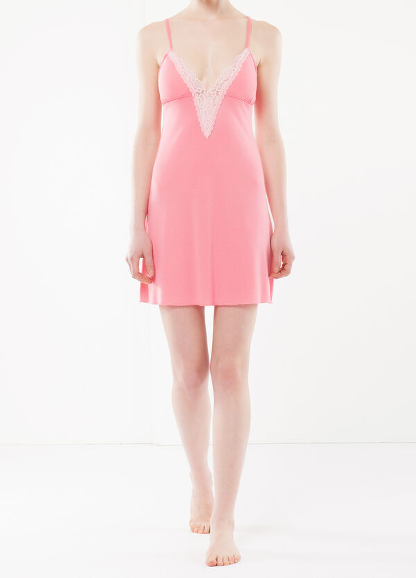 Nightdress with lace inserts | OVS