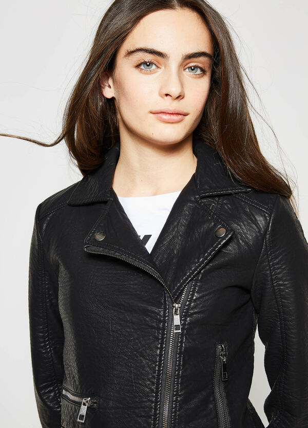 Teen jacket with zips on cuffs | OVS